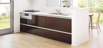 シンプルで安価なI型キッチン